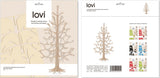 Lovi Spruce Tree 25cm Natural Wood