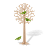 Lovi Tree 34cm Natural Wood With Light Green Birds