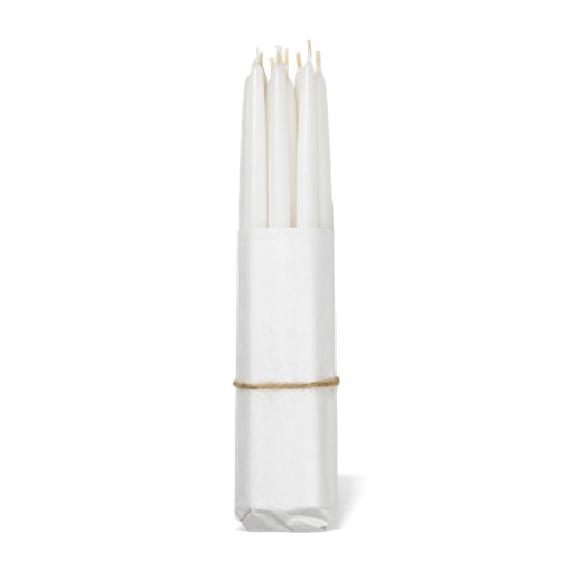 Broste Set of 10 Hand Dipped Tapers 12mm White
