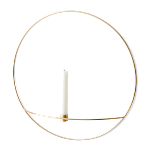 Menu POV Circle Candleholder Brass Small
