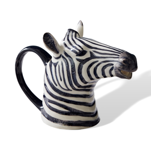 Quail Designs Zebra Jug: Medium