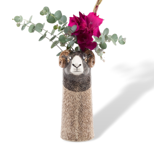 Quail Designs Swaledale Sheep Tall Flower Vase : Large