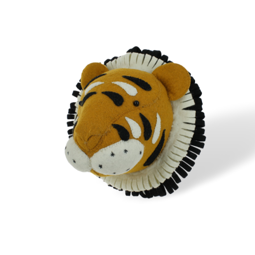 Fiona Walker Mini Felt Tiger Head