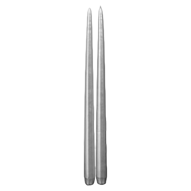 Broste Tapers H33cm with Lacquer: Silver