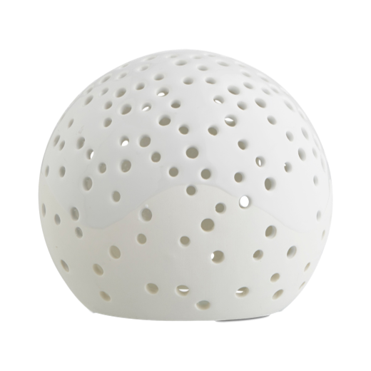 Kähler Nobili Round Ceramic Tealight Holder 12cm White