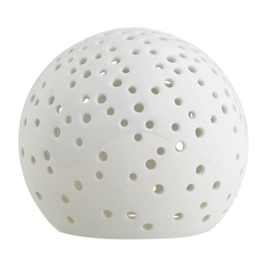 Kähler Nobili Round Ceramic Tealight Holder 14cm White