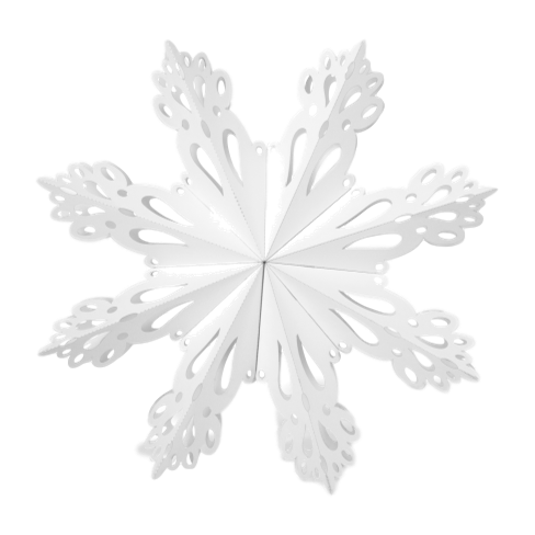 Broste Paper Snowflake Decoration White Medium