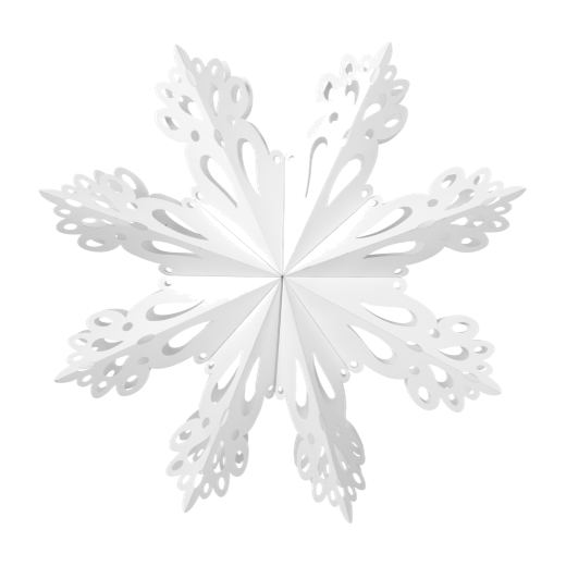 Broste Paper Snowflake Decoration White Extra Large