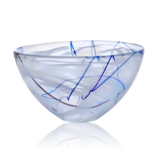 Kosta Boda Contrast Bowl Small White