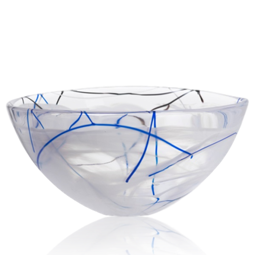 Kosta Boda Contrast Bowl Medium White