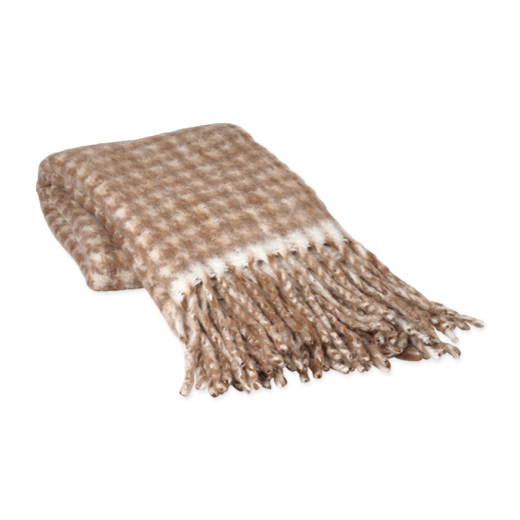 Broste Ida Throw Taupe