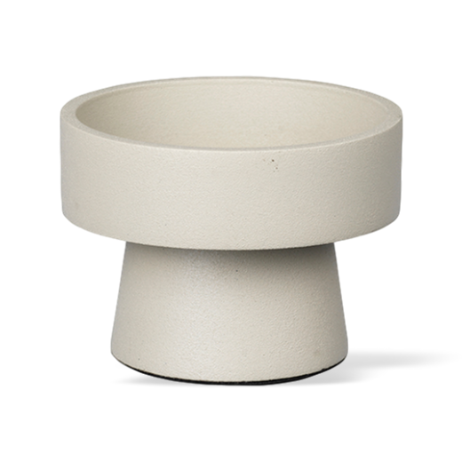 Broste Metal Candlestick  Wide Anker Winter White