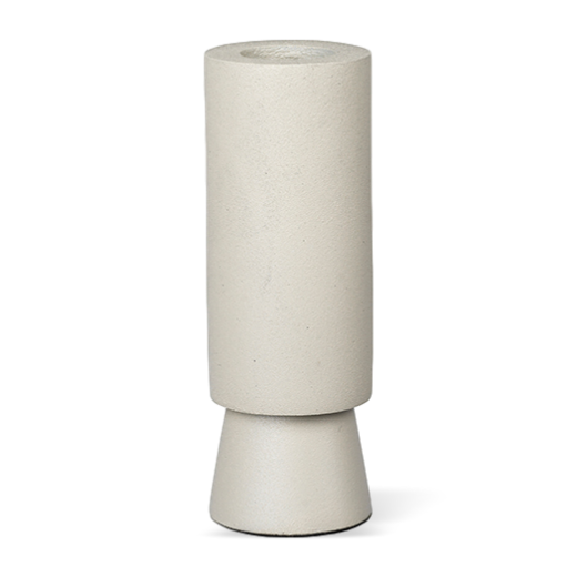 Broste Metal Candlestick Slim Anker Winter White