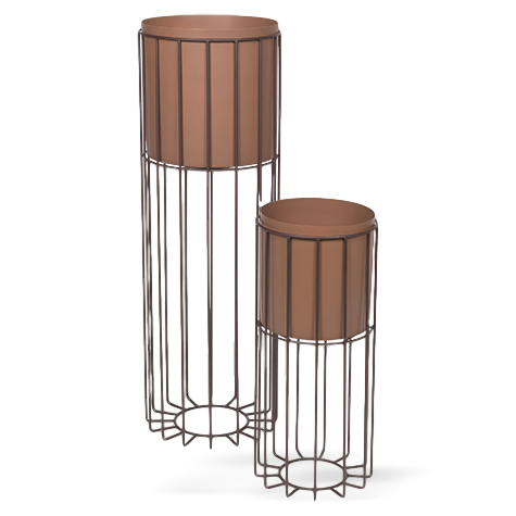 Broste Metal Plant Stand Fenja Set of 2 Rust