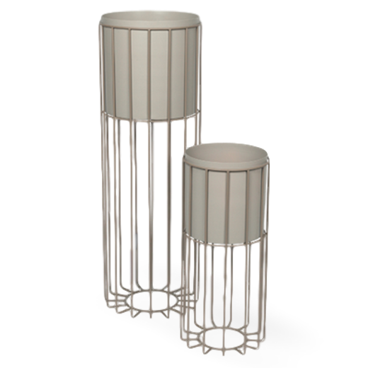 Broste Metal Plant Stand Fenja Set of 2 Taupe