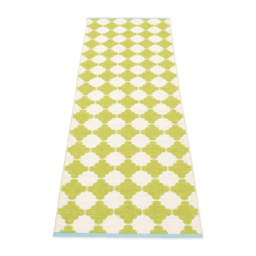 Pappelina Marre Rug Lime and Vanilla: 70 x 225cm