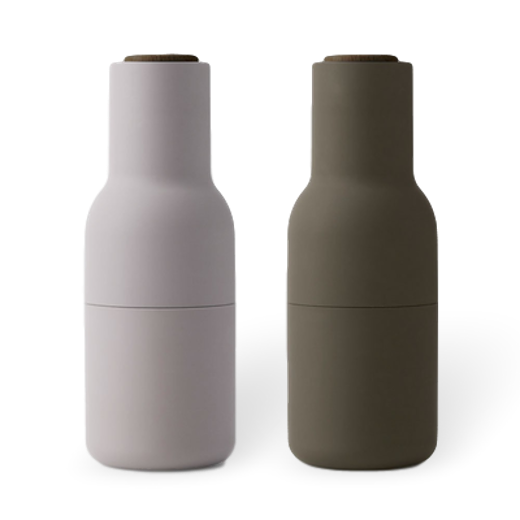 Menu Bottle Grinder 2 Pack Hunting Green and Beige