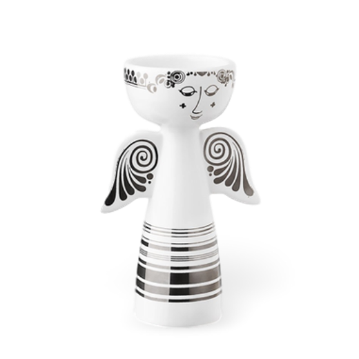Bjørn Wiinblad Tealight Holder Angel Silver 14cm