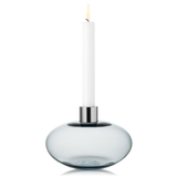Kosta Boda Pluto Candle Holder Grey