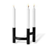 Stelton Ora Three-Branch Candleholder Black
