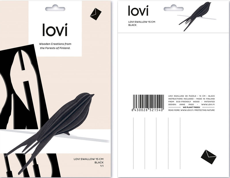 Lovi Swallow 10cm Black