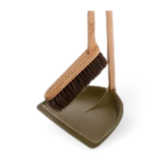 Iris Hantverk Tall Dustpan & Brush Set Green