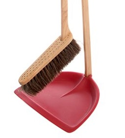Iris Hantverk Tall Dustpan & Brush Set Red