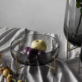 Menu Echasse Bowl Smoke and Brushed Brass