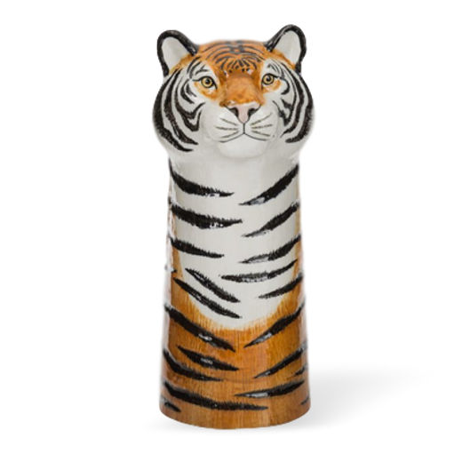 Quail Designs Tiger Tall Flower Vase