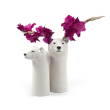 Quail Designs Polar Bear Tall Flower Vase