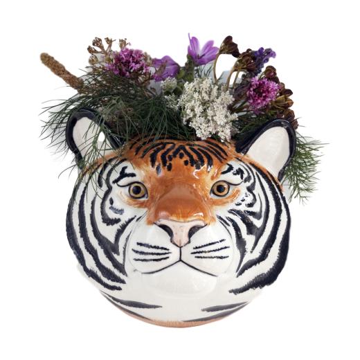 Quail Designs Tiger Wall Vase