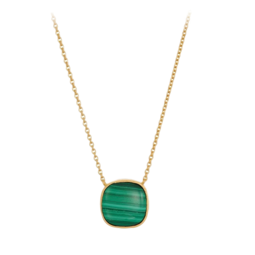 Pernille Corydon Malachite Necklace Gold