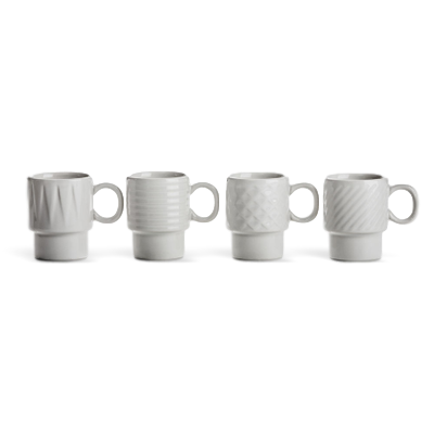 Sagaform Coffee and More Espresso Mugs 4 Pack White