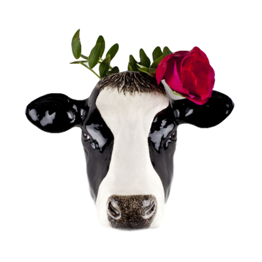 Quail Designs Friesian Cow Wall Vase