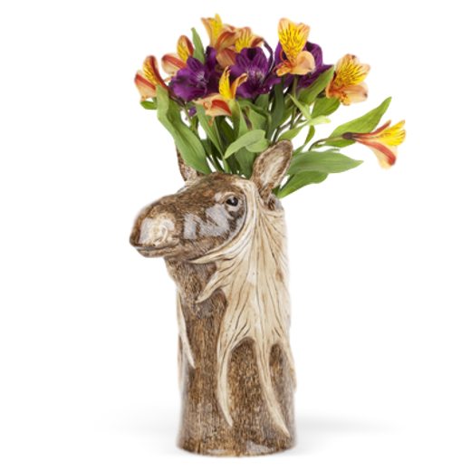 Quail Designs Moose Tall Flower Vase