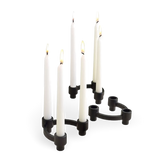 Design Ideas Black Metal Eos Candelabra Set of 5