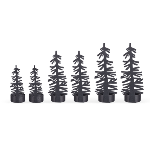 Design Ideas Nordic Tree Tealight Holders Set of 6