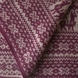 Samantha Holmes Alpaca Fair Isle Blanket Red