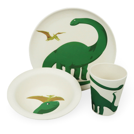 Zuperzozial Biodegradable Hungry Dino Childrens Meal Set