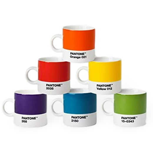 Copenhagen Design Pantone Living Espresso Cup Orange 012