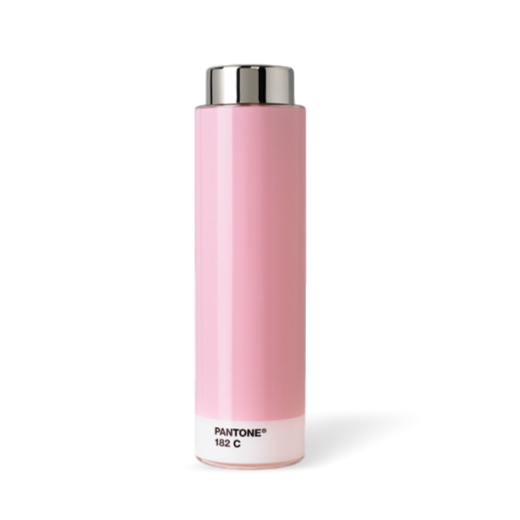 Copenhagen Design Pantone Living Steel Drinking Bottle Light Pink 182