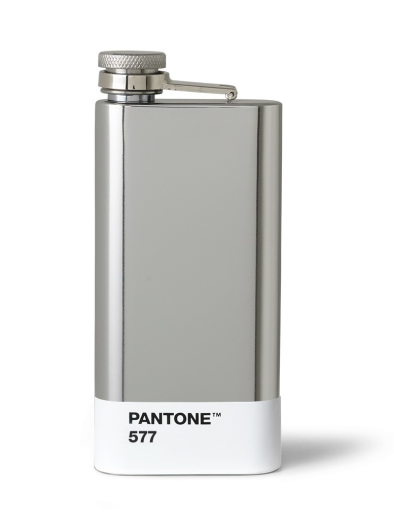 Copenhagen Design Pantone Living Hip Flask Silver 577