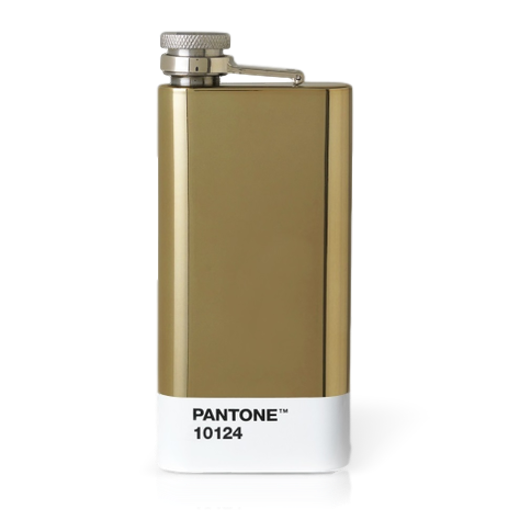 Copenhagen Design Pantone Living Hip Flask Gold 10124