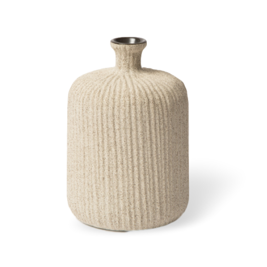 Lindform Bottle Vase Light Sand Stripe Medium