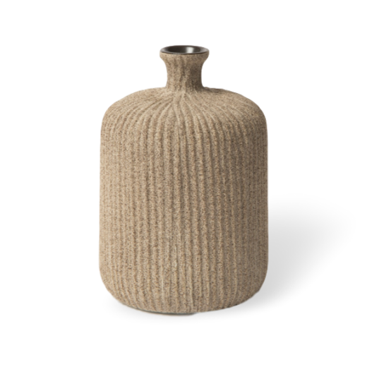 Lindform Bottle Vase Medium Sand Stripe Medium