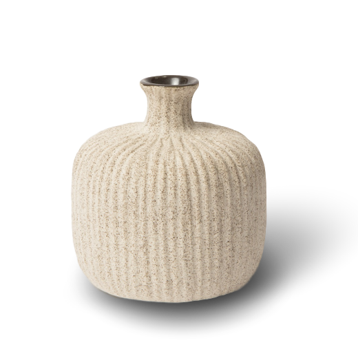 Lindform Bottle Vase Light Sand Stripe Small