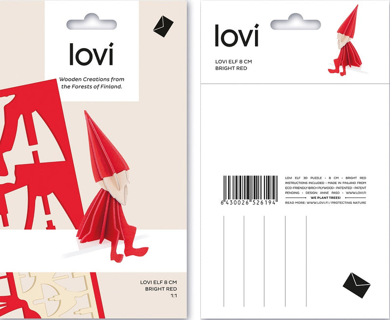 Lovi Elf 8cm Red