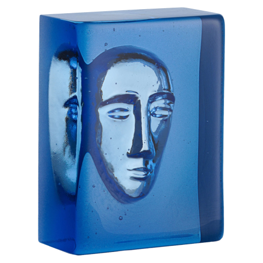 Kosta Boda Block  Sculpture Azure Man