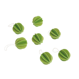 Lovi Original Bauble 3.5cm Light Green Set of 7