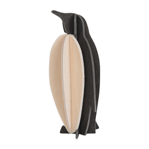 Lovi Penguin 10cm Black and Natural Wood